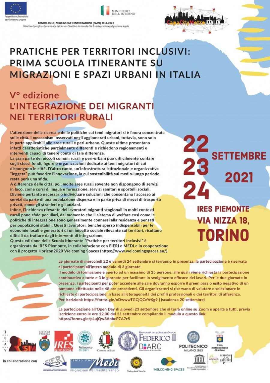 L'integrazione dei migranti nei territori rurali | I° scuola itinerante su migrazioni e spazi urbani in Italia