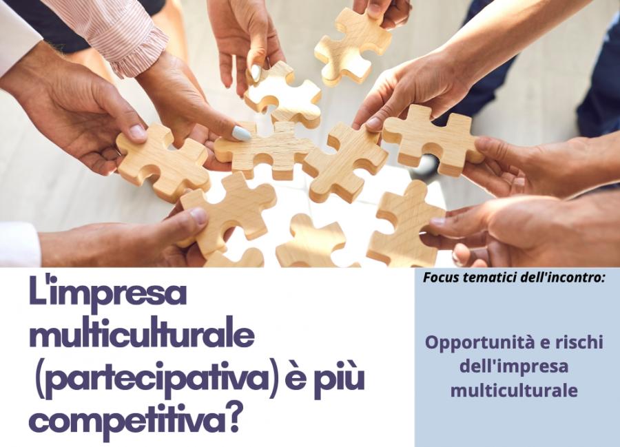 Webinar L'impresa multiculturale (partecipativa) è più competitiva?
